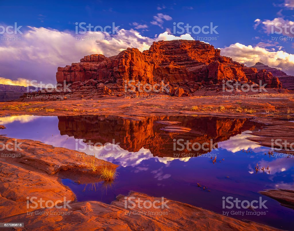 BLM land looking at Dead Horse Point State Park, Utah stock photo