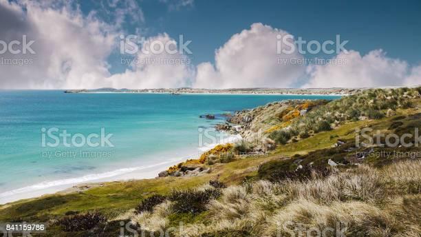 Landminebereich Auf Weißen Sandigen Stränden Und Küsten Falklandinseln Aus Falklandkrieg Stockfoto und mehr Bilder von Argentinien