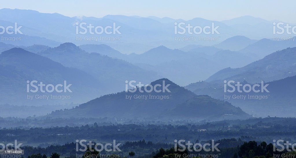 Land of a Thousand Hills stock photo
