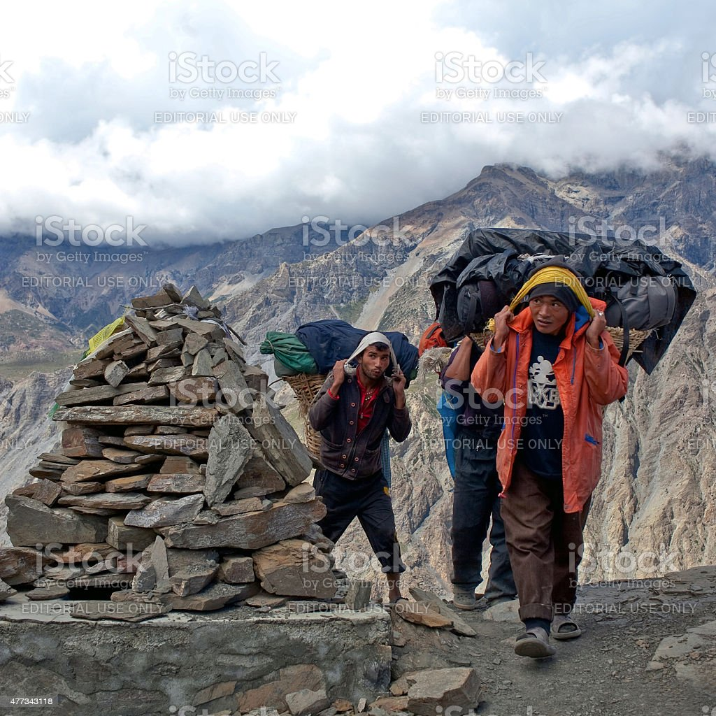 Land of Dolpo, Nepal stock photo