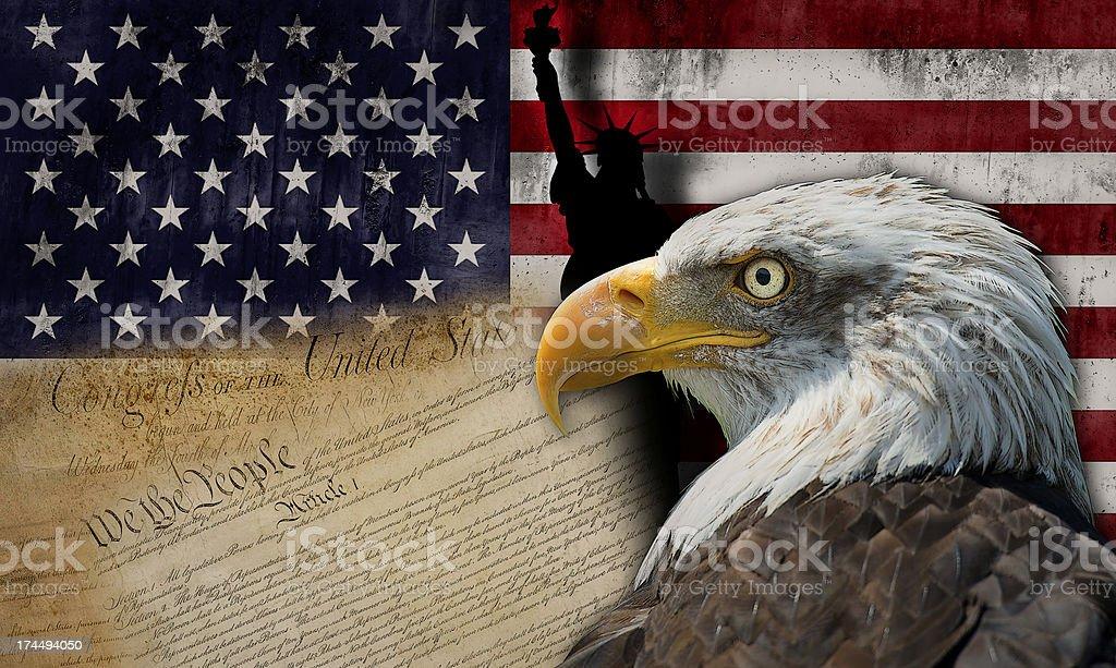 Land of liberty stock photo