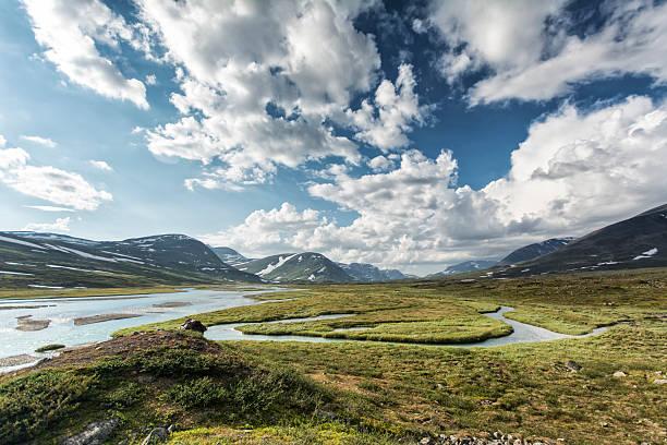 land of the midnight sun - norrbotten bildbanksfoton och bilder