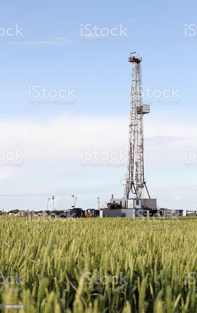 land oil drilling rig petroleum industry royalty-free stock photo