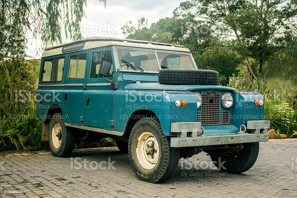 Land Rover Old Model 4x4 Vehicle Vintage Car Style Stock Photo ...