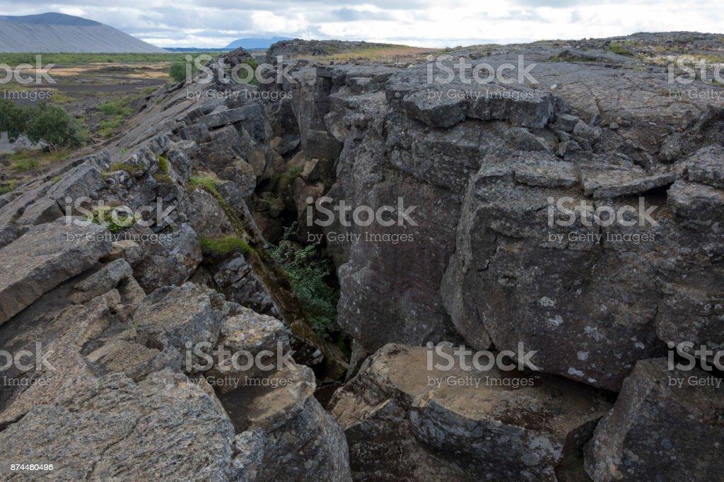 Land Scar stock photo