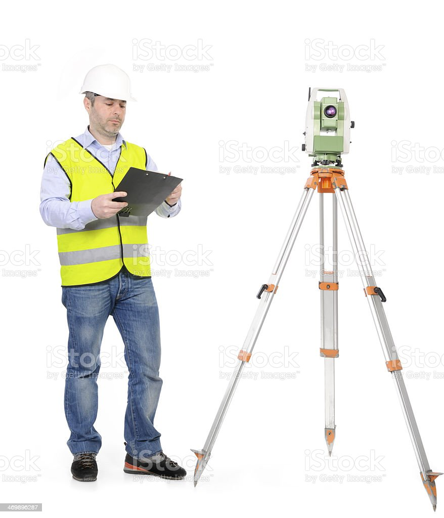 land surveyor royalty-free stock photo