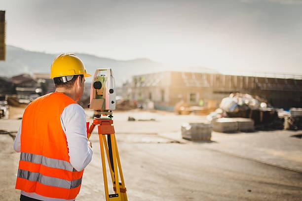 Land Surveyor stock photo