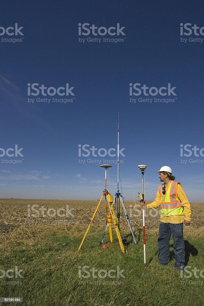 Land Surveyor Working With Gps Stock Photo - Download Image Now - iStock