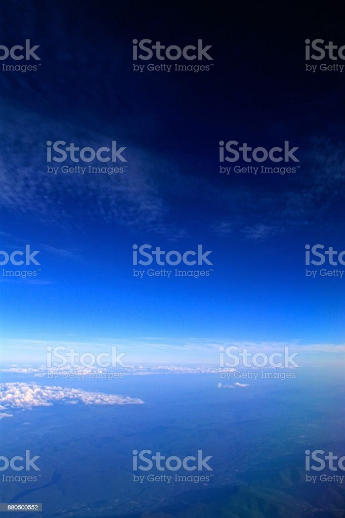 Land to Space over Newfoundland stock photo