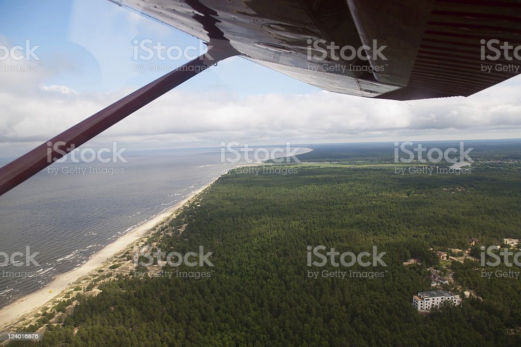land view from plane cabin royalty-free stock photo