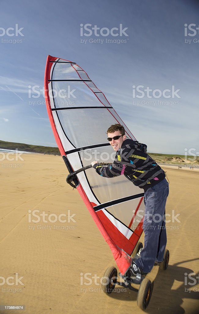 Land Windsurfer royalty-free stock photo