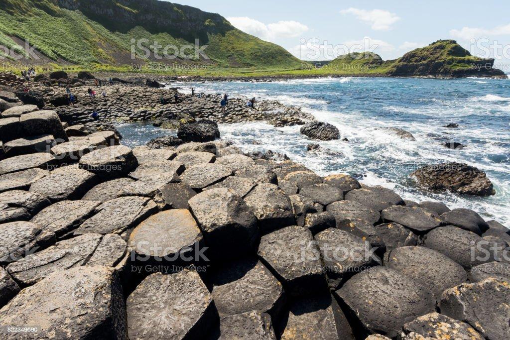 Landascapes of Ireland. Giant's Causeway, Northern Ireland stock photo