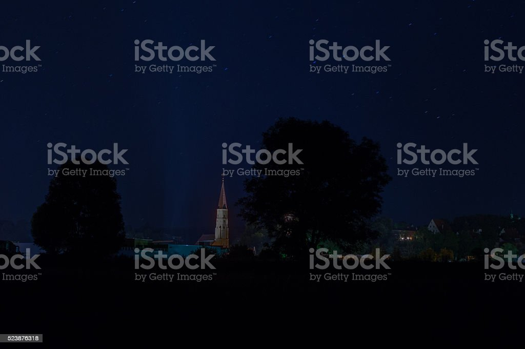 Landau at night stock photo
