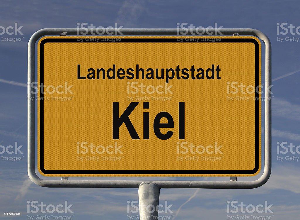 Landeshauptstadt Kiel stock photo