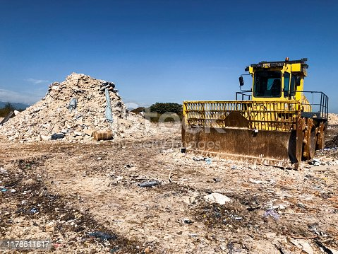 Landfill for construction waste.