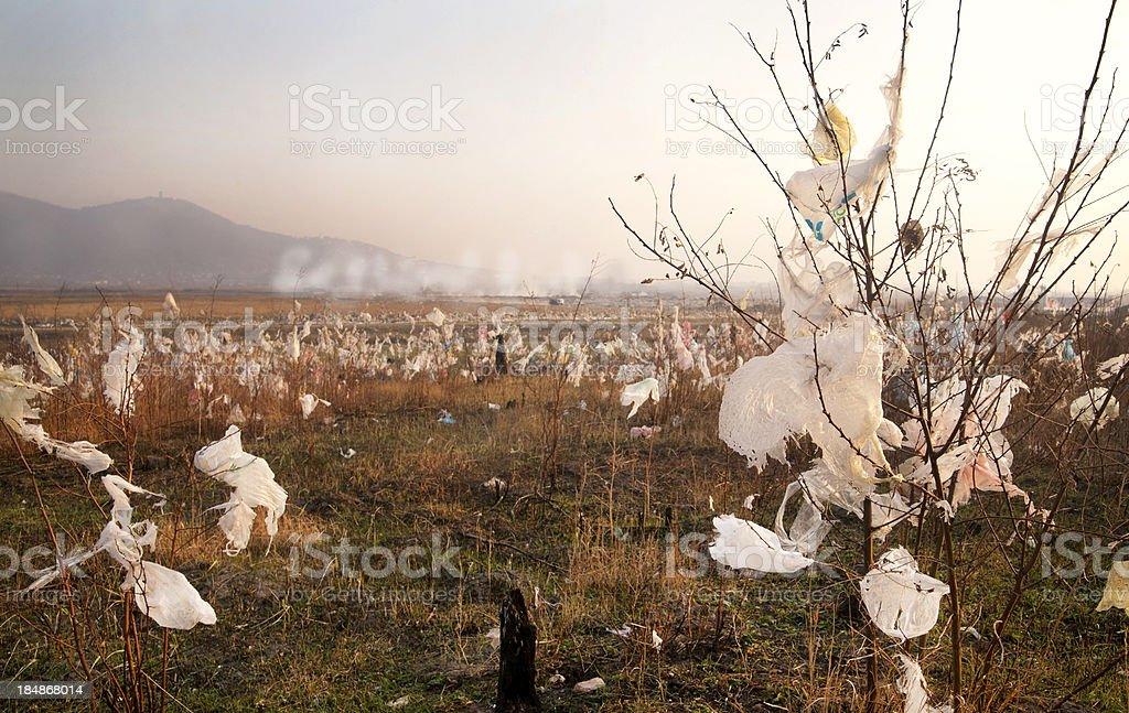 Landfill garbage stock photo