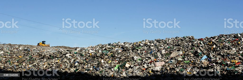 Landfill landscape stock photo