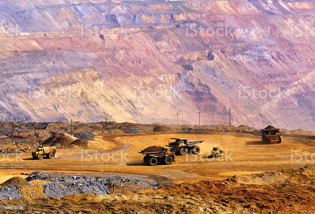 Landfill of depleted ore stock photo