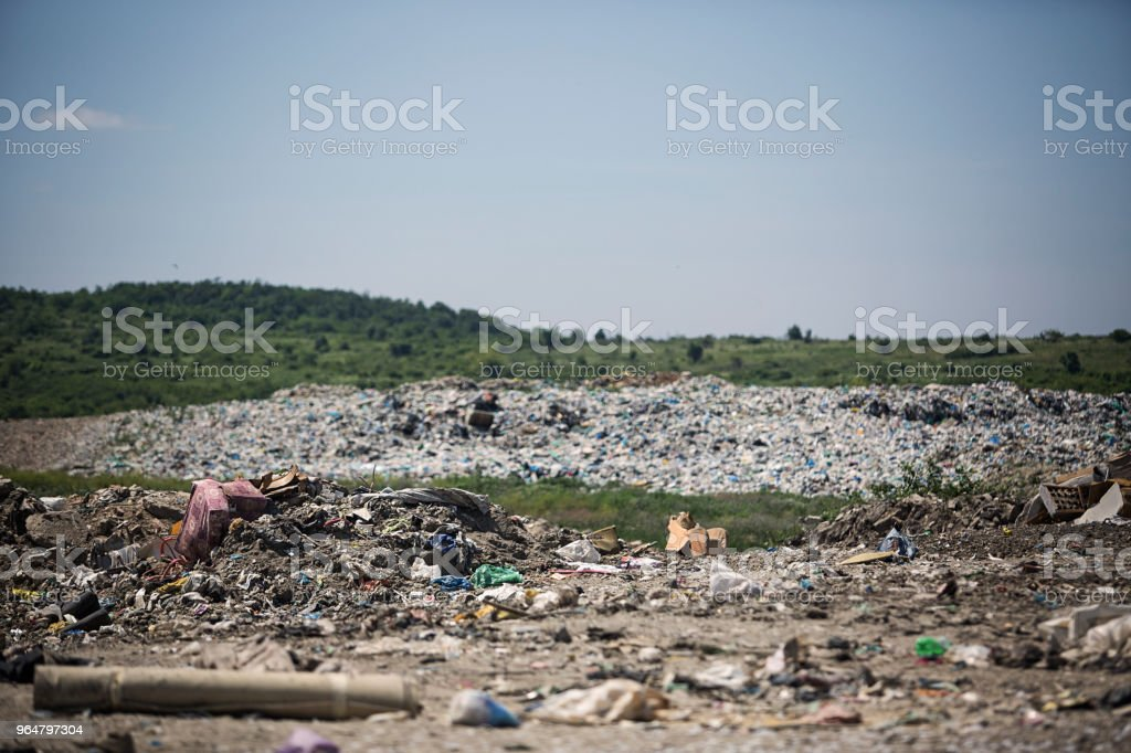 Landfill royalty-free stock photo