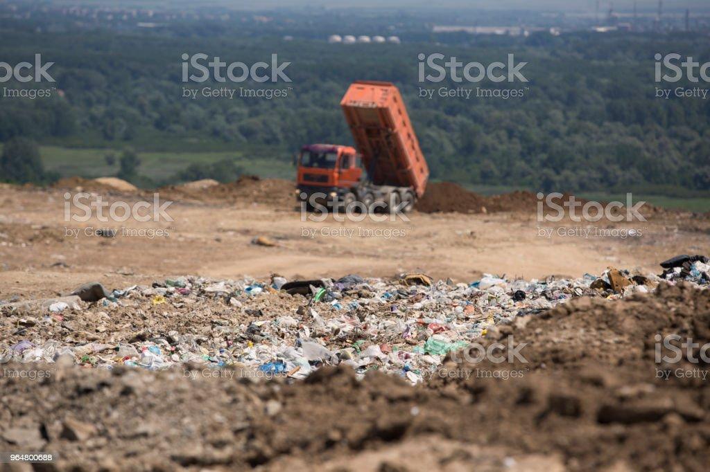 Landfill royalty-free stock photo