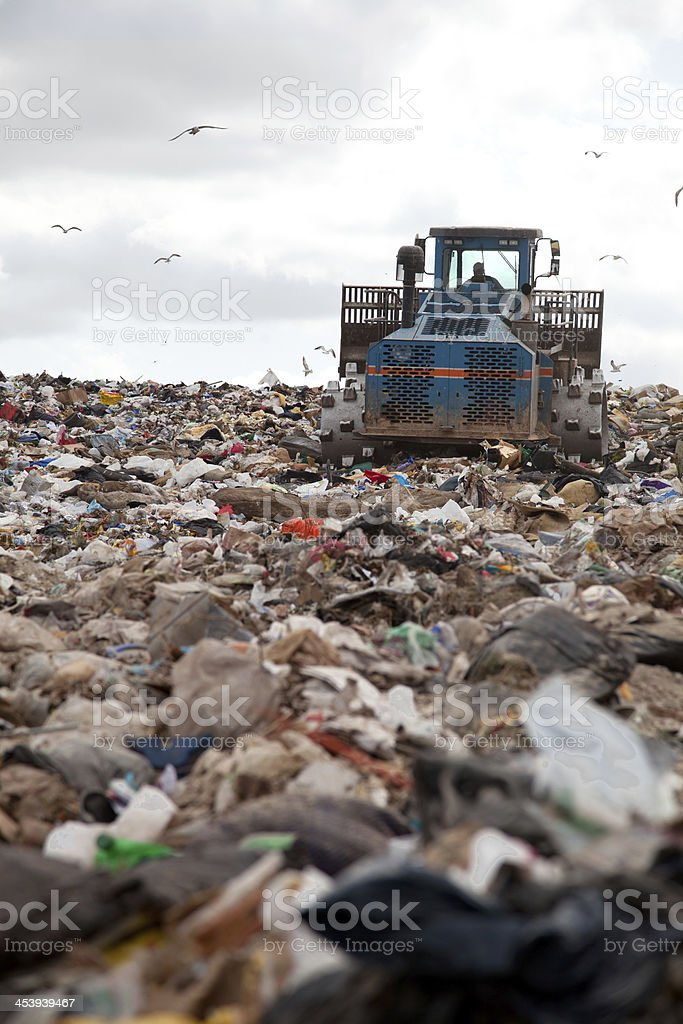 Landfill vertical stock photo