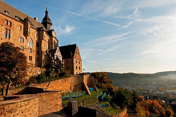 landgrafenschloss von marburg - marburg uni stock-fotos und bilder