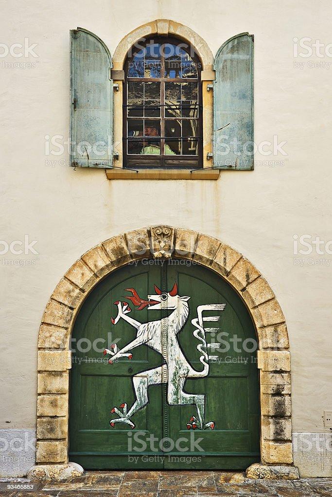 Landhaus door, Graz, Austria royalty-free stock photo