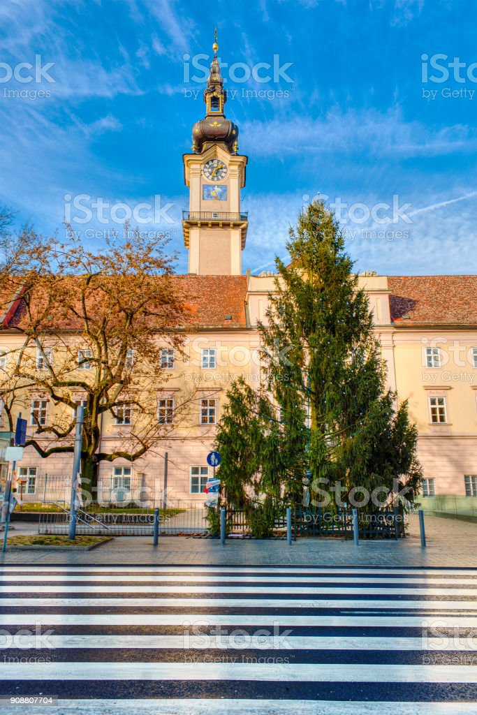 Landhausturm in Linz stock photo
