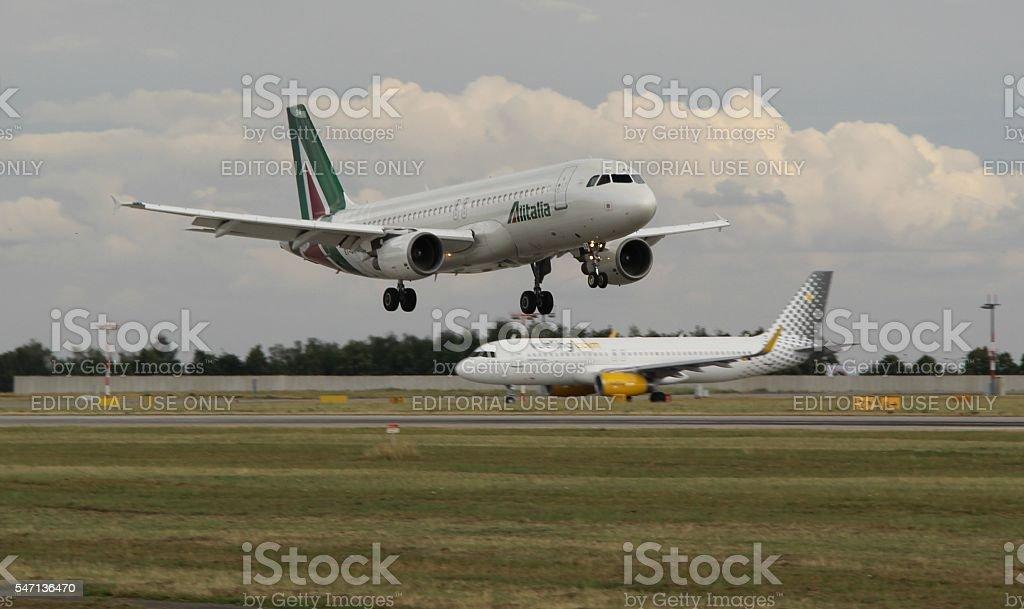 Landing A320 - foto stock