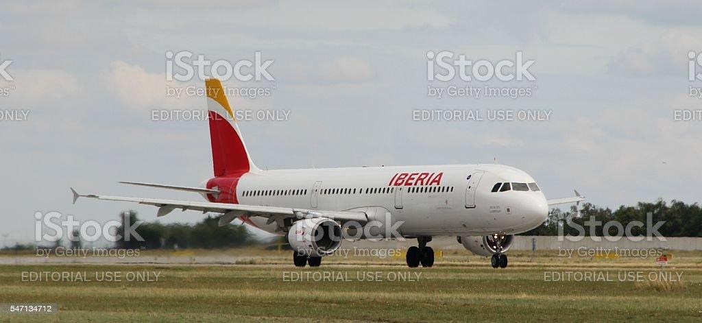 Landing A321 royalty-free stock photo