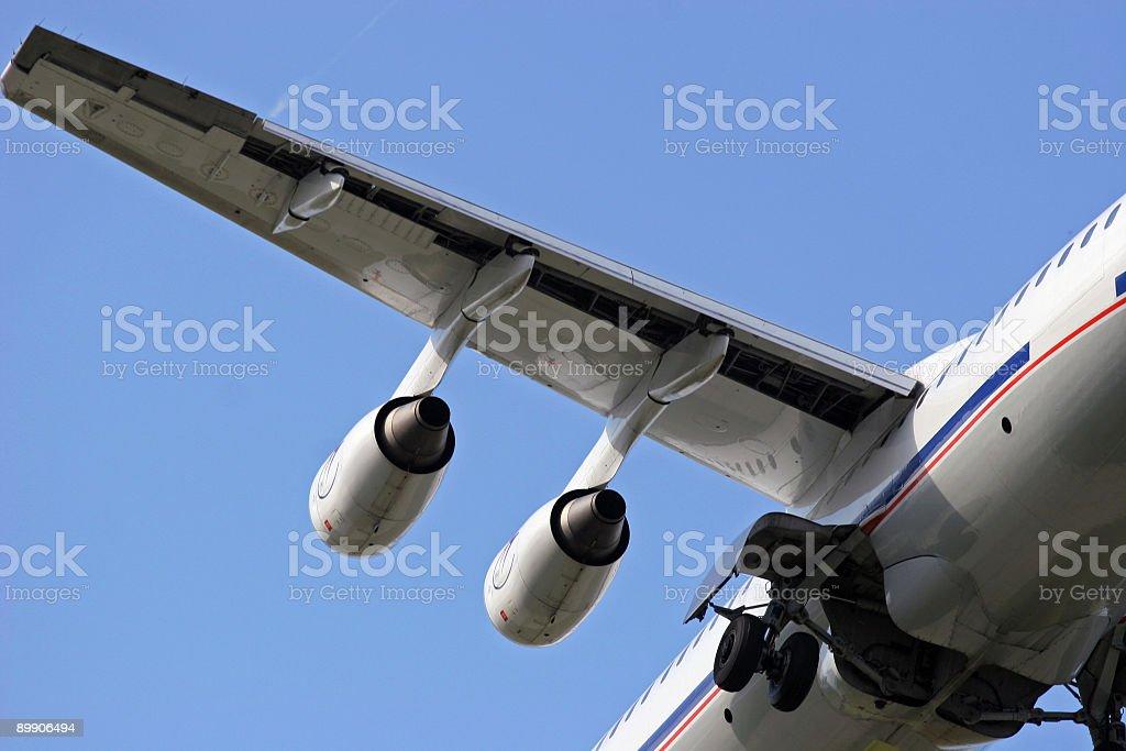Landing airliner, Detailansicht Lizenzfreies stock-foto