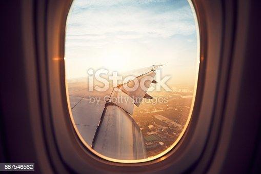 istock Landing at the sunrise 887546562