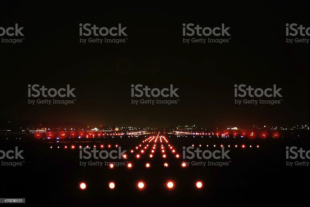 landing lights stock photo
