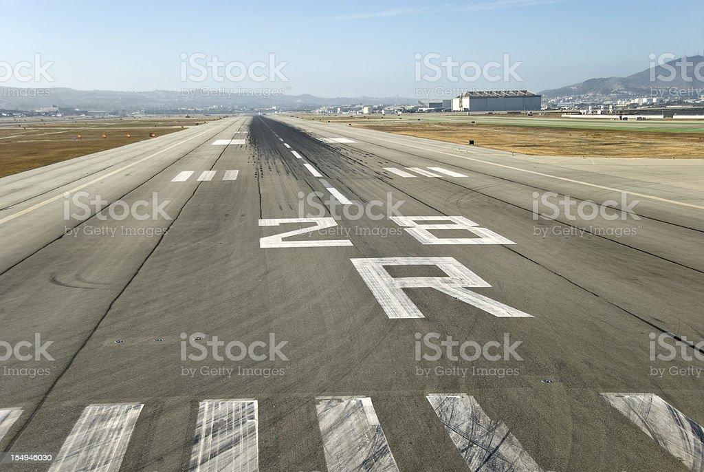 Landing Runway stock photo