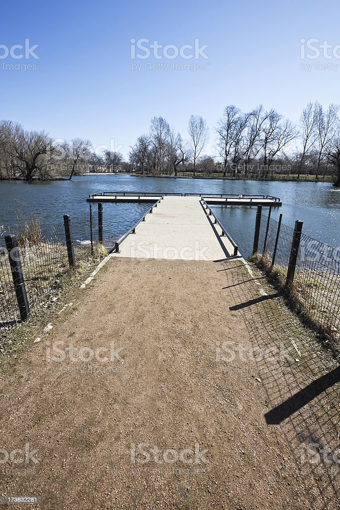 Landing Stage McKinley Park Chicago royalty-free stock photo