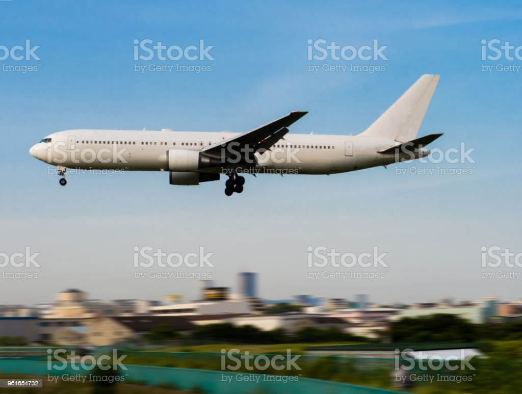 Landing to Osaka International Airport royalty-free stock photo