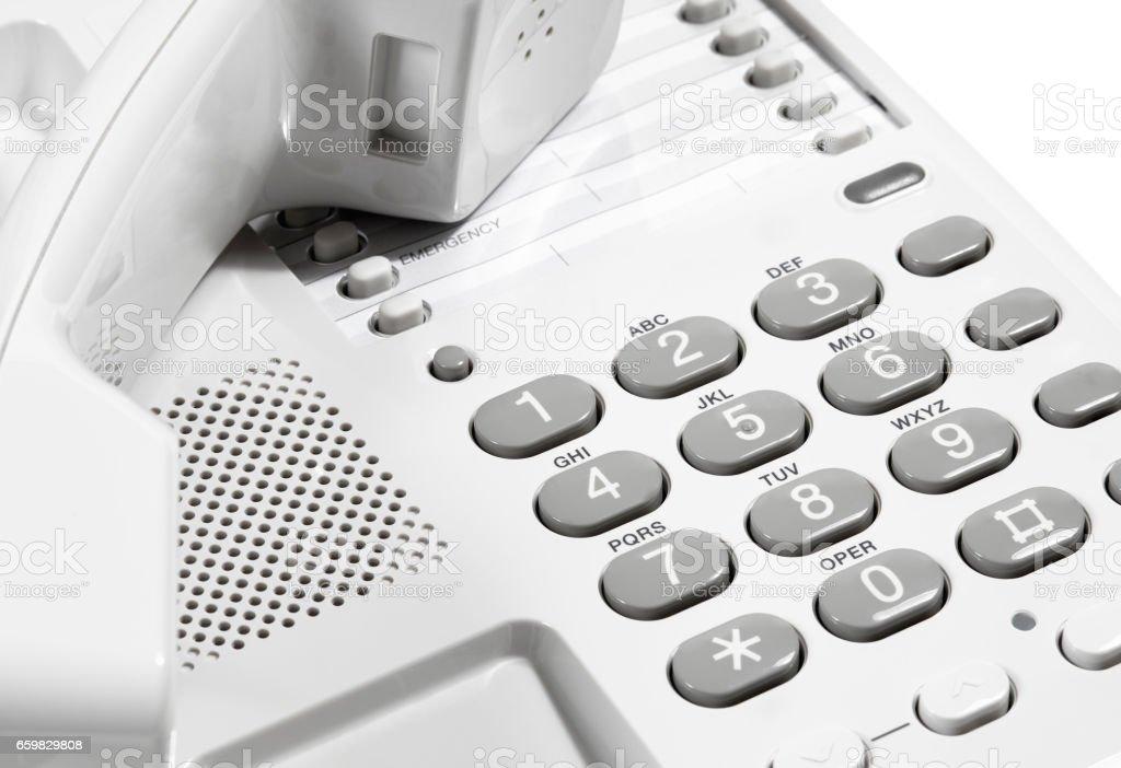 Landline Telephone with Receiver stock photo