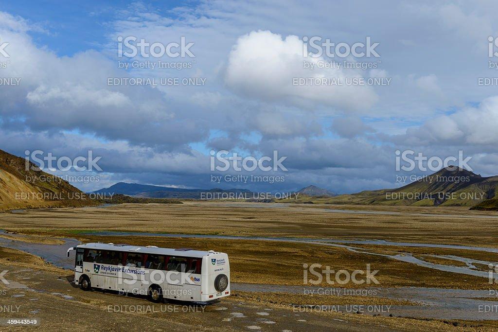 Landmannalaugar Bus Service royalty-free stock photo