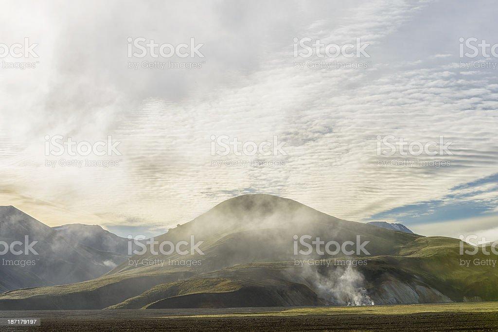 Landmannalaugar fog royalty-free stock photo