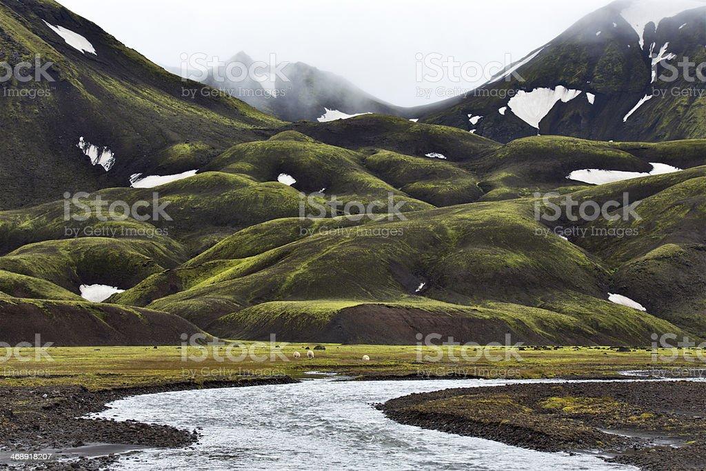 landmannalaugar stock photo