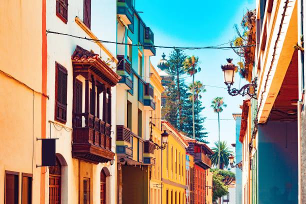Landmark and vacations in Spanish beachs. stock photo