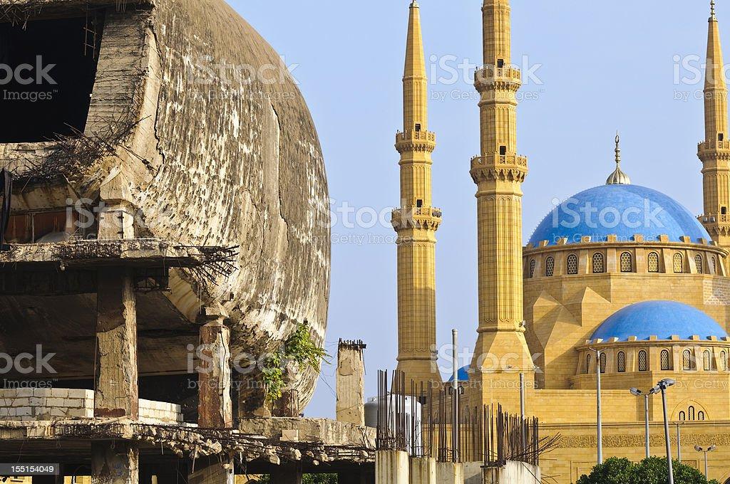 Landmark buildings in Beirut, Lebanon stock photo