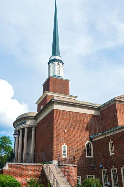 Landmark Church and Steeple in Milwaukee stock photo