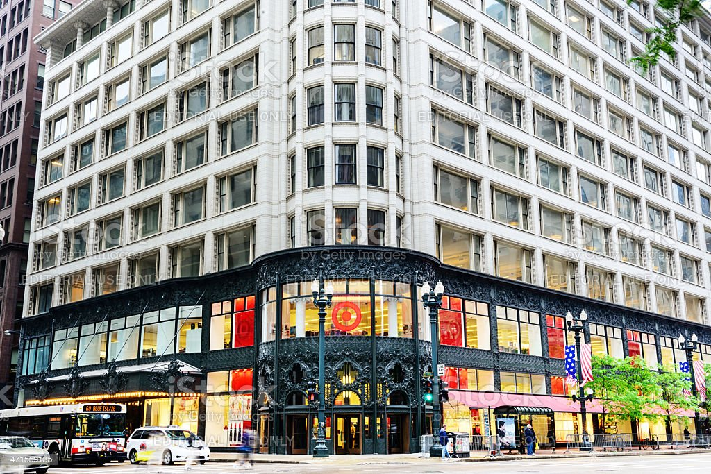 Landmark department store on State Street in Chicago royalty-free stock photo