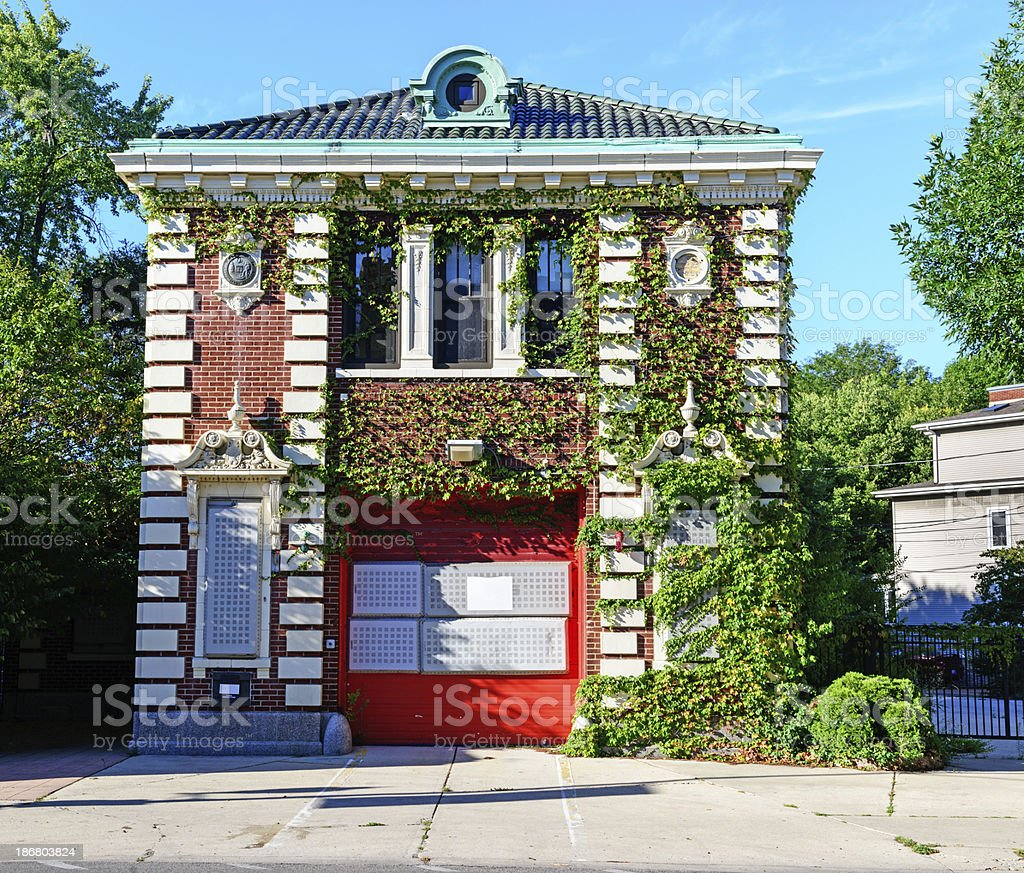 Landmark Firehouse in Edgewater, Chicago royalty-free stock photo