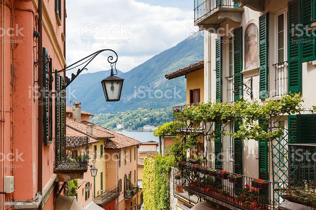 Landmark of Bellagio stock photo