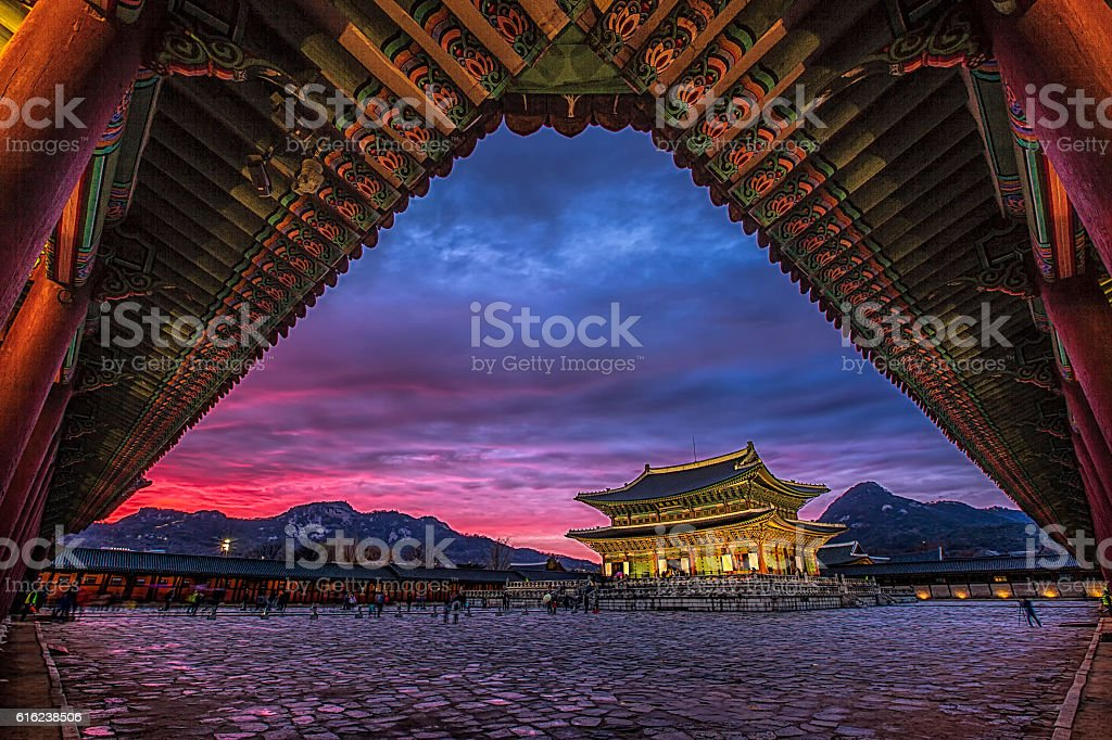 landmark of korea stock photo