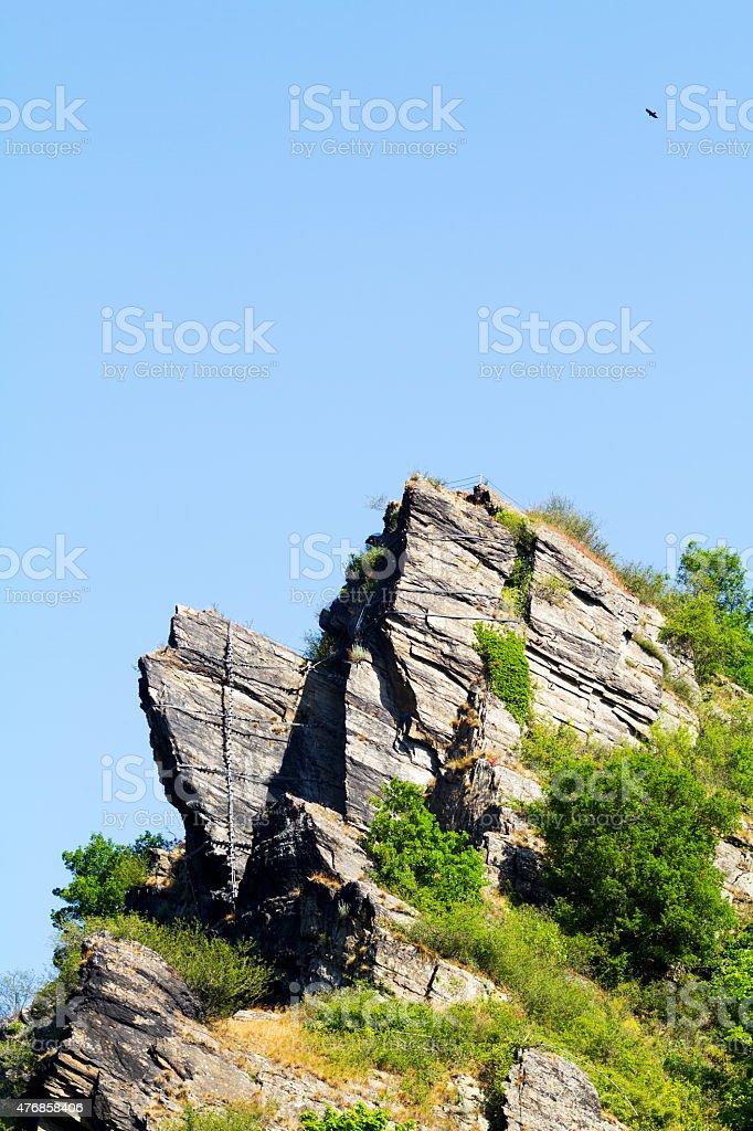 Landmark rock Loreley stock photo