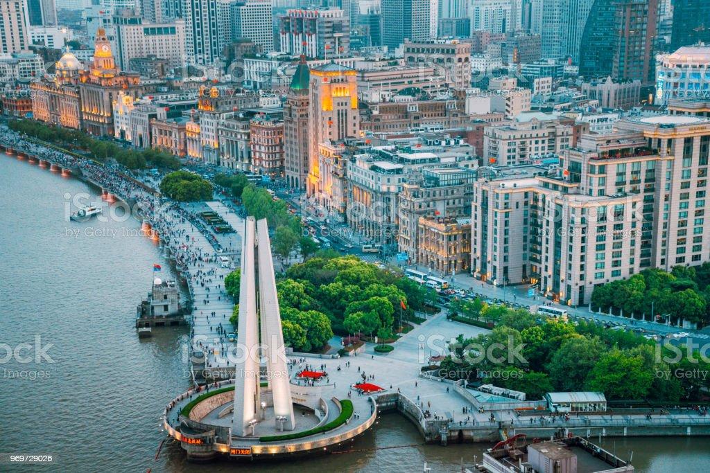 Landmark Skyscraper in Shanghai, China stock photo
