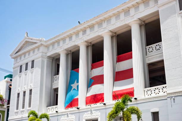 Landmark University Building in Old San Juan stock photo